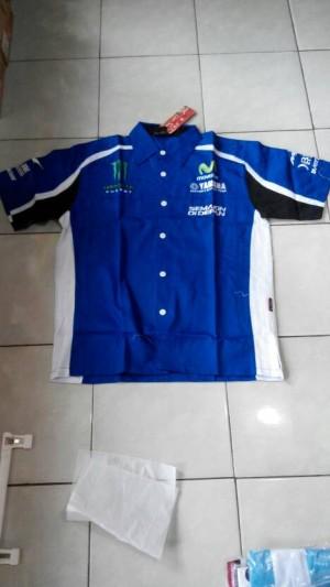 Kemeja Racing Yamaha Biru (balap motor, formula 1,f1,motor,mobil,cros)