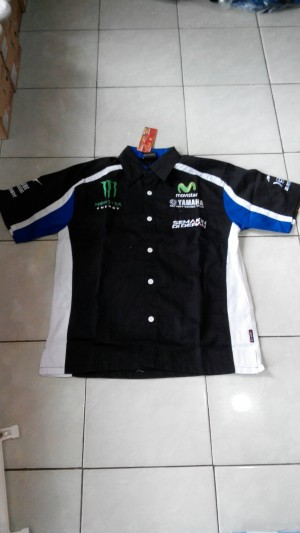 Kemeja Racing Yamaha Hitam(balap motor, formula 1,f1,motor,mobil,cros)