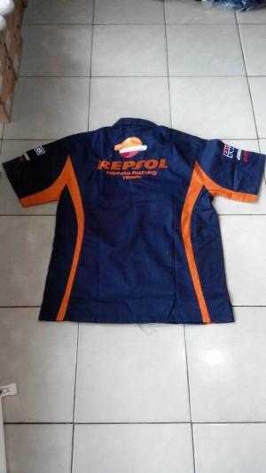 Kemeja Racing Repsol Dongker (balap motor, formula 1,f1,motor,mobil)