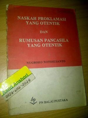 harga Buku Jadul Naskah Proklamasi YangOtentik,Rumusan Pancasila Otentik1983 Tokopedia.com