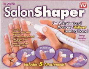 SALON SHAPER, Manicure Portable Set 5 in 1 Listrik Yg Bisa Dibawa Kemana2