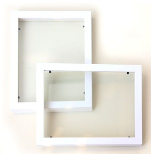 Bingkai Paper Cutting 20x15 cm - Putih