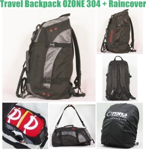 Ransel Travel Multifungsi OZONE 304 + Raincover [ABU TUA] Bandung