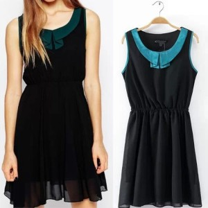 soft  chiffon dress import (baju pakaian impor )