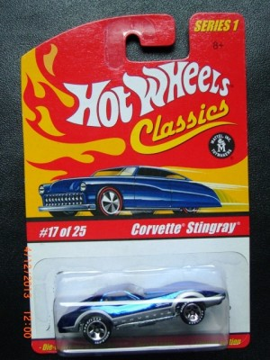 HOT WHEELS CLASSICS EXTREMELY RARE CORVETTE STINGRAY BLUE LIMITED EDITION