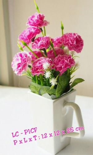 bunga artificial buatan plastik anyelir carnation (BUNGA NYA SAJA)