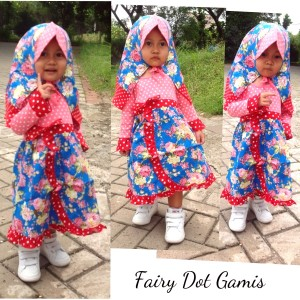 Gamis dress Fairy dot 6month-2Y anak bayi baby