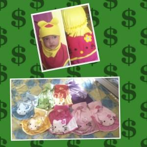 jilbab anak karakter/ jilbab murah