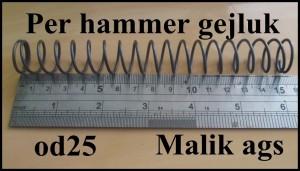Per hammer gejluk od25