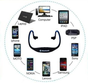 Headset Bluetooth Stereo Untuk HP China Oppo Joy/HTC/Advan/EverCross