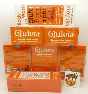 GLUTERA ORIGINAL NEW PAKET A / 25 SACHET GLUTERA GLUTATHIONE+BODYWASH+BODYLOTION