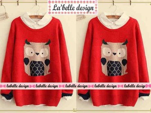 Blouse Owl Red