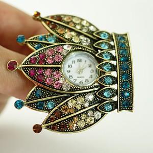 Jam Tangan Cincin (Fashion Ring Crown Swarovski Watch)
