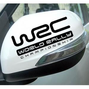 Stiker Spion Mobil WRC Warna Hitam