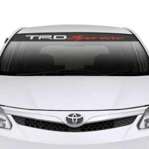 Stiker Winshield Kaca Depan Toyota TRD Karbon Universal