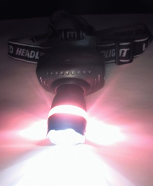 Headlamp ( Senter Kepala ) LED High Brigtness bisa zoom in zoom out , 3 Mode (Terang , Medium dan Kelap Kelip)