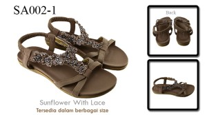 Sandal sunflower with lace SA002-1