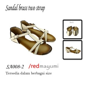 Sandal brass two strap Cream SA008-2