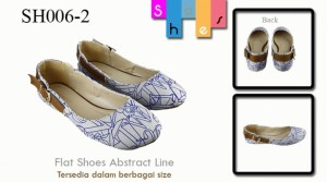 Flat shoes abstract line Grey SH006-2