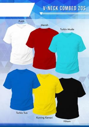 Jual (Size XL) - Grosir Kaos Polos V-neck Murah Cotton Combed 20s ...