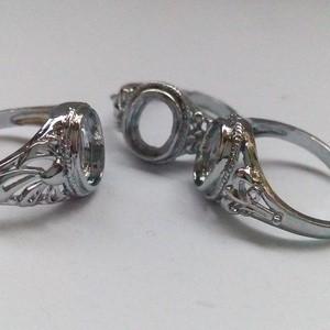 Cangkang Batu Cincin / Ring Batu Rodium Model Tanam (Size 8