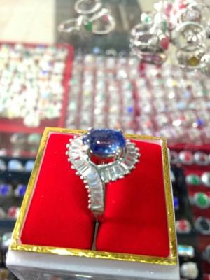 harga cincin wanita batu permata kecubung ikat perak Tokopedia.com