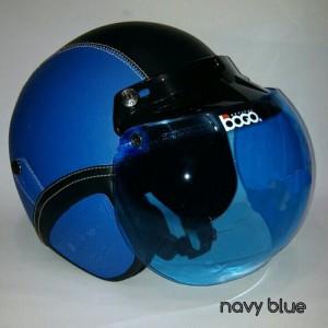 harga Helm Retro Bogo Blue-Black + Kaca Bogo asli Tokopedia.com