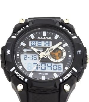 harga Jam Tangan Pria Memphis Watch Black A.L.I.V.E Sophie Martin Paris Tokopedia.com