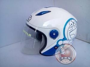 Helm BMC Milan Doraemon Retro ( White/Blue, Size L)