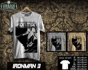 Tshirt IRONMAN Disain IRONMAN 3