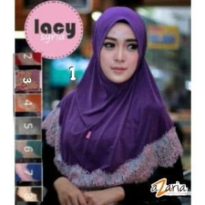 Hijab/Jilbab/Syria instan Renda Lacy