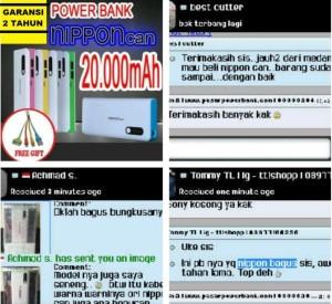 Power Bank Nippon 20000mah Original Garansi 2 Tahun Setara Vivan/Hippo
