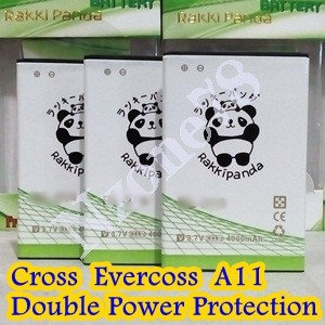 Baterai Cross Evercoss A11 Rakkipanda Double Power