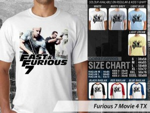 Kaos Film Paul Walker Fast N Furious 7 Movie 4 TX