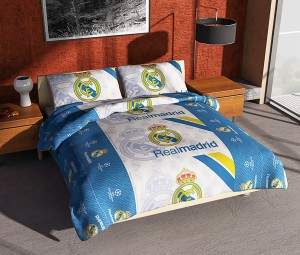 GROSIR BEDCOVER SET Single 120×200 Klub REAL MADRID