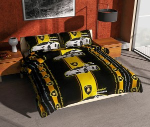 BEDCOVER SET Murah Single 120×200 Mobil LAMBORGHINI