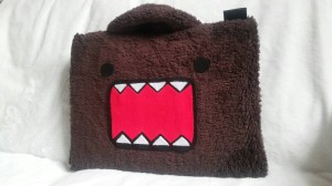Domo Kun Coklat 10 inchi softcase/tas laptop netbook,notebook lucu