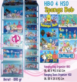 harga 1 paket Hbo dan hso rak tas & sepatu gantung Spongebob Biru Tokopedia.com