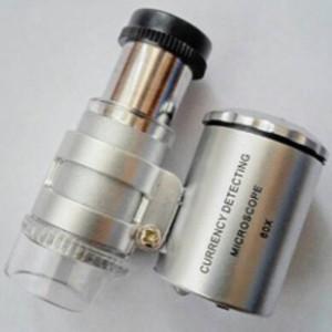 Mikroskop mini 60 x zoom . buat batu akik dan batu permata