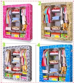harga cloth rack lemari rak baju boneka kemeja doraemon elsa frozen baymax Tokopedia.com