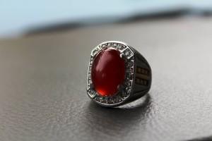 Cincin Batu Red Carnelian / Akik Darah Kualitas Super