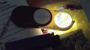 Mikroskop/Microscope/Loupe/Lup/Kaca Pembesar Batu 10x Mini+Senter LED