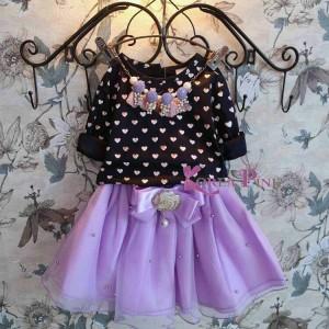 harga korea pink dress purple Tokopedia.com