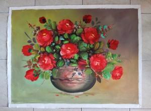 harga Lukisan Bunga Mawar Merah ( S25 ) Tokopedia.com