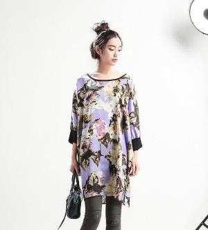 harga Big size blouse flower top import atasan baju wanita jumbo besarUkuran Tokopedia.com