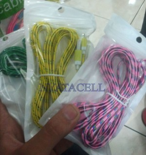 Kabel Charger Micro USB 3 Meter / 3M Model Setrika/Tali Sepatu