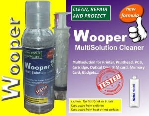 Wooper head printer cleaner solution