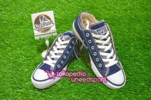 Sepatu Converse ALL STAR Grey/Navy Double Upper OX