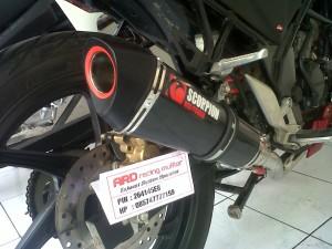 Knalpot Scorpion black CBR 250,CB 150,mega pro,cbr 150,tiger (pnp)