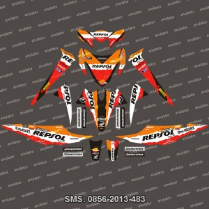harga Stiker Striping Honda-Revo-2008-Repsol-team Spec A Tokopedia.com
